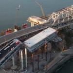 Для соединения временной эстакады с существующим мостом секция старой эстакады будет демонтирована
