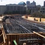 Строительство пролетных строений путепровода