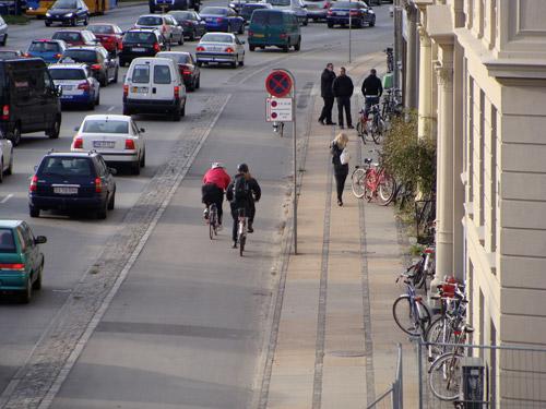Велосипедная дорожка в Копенгагене