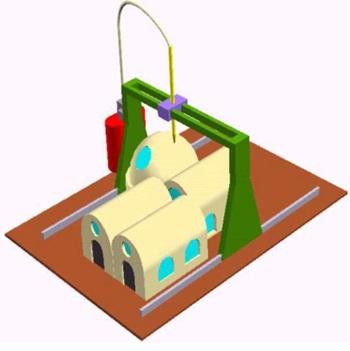 Рисунок 4. Строительство сводчатых зданий ме-тодом КС