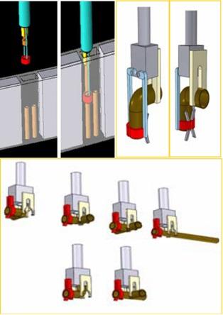 Рисунок 8.Модульные элементы и захватные устройства для прокладки трубопроводов