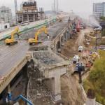 Демонтаж существующих путепроводов