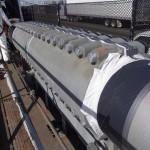 Установка cable bands - устройства для крепления кабеля к пролетному строению