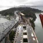 Вид с пилона моста на остров Йерба-Буэна