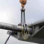 Монтаж hinge pipe beam